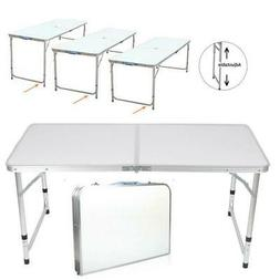 4ft Aluminum Camping Folding Table Portable Office Camping P