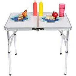 3FT Folding Potable Camping Table Picnic Dining Adjustable A