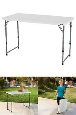 "4"" Portable Outdoor Utility Table Folding Adjustable Camping"