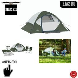 6 PIECE Ozark Camping Combo Tent Sleeping Bags Chairs & Port
