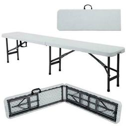 6FT Portable Plastic Party Camping Dining Folding Bench Home