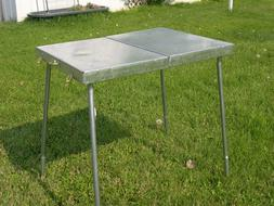 All Metal Compact Small Folding Camp Table Tent Camping Rile