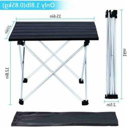 Aluminum Folding Camping Table,Lightweight Picnic Table wi