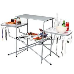 BBQ Camp Table Foldable Portable Grilling Stand Outdoor Camp