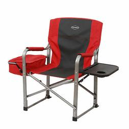 Kamp-Rite Outdoor Camp Folding Director's Chair with Side Ta