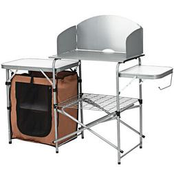 camping folding table portable outdoor bbq grill