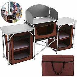 VEVOR CAMPING KITCHEN TABLE FOOD PREP STORAGE COOKING TABLES