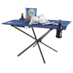 Camping Table Folding Portable 2 Cup Holders Carry Bag Picni