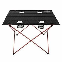 Camping Table Folding Portable Carry Bag 4 Cup Holders Outdo