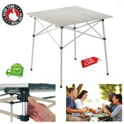 Compact Picnic Table Camping Portable Roll Top Aluminum Stro