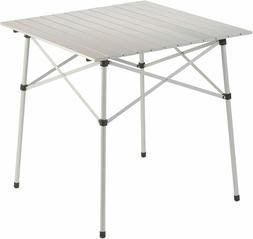 Coleman Compact Roll Top Aluminum Table Travel Camping Hikin