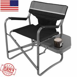 Director's Chair Folding Portable Side Table Outdoor Camping