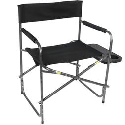 Ozark Trail Director's Chair with Side Table, Black, Campi