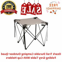 Ozark Trail Durable Camping Outdoor Quad Folding Grey Table