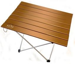 Folding Camp Table by World Walkers | Portable Lightweight A