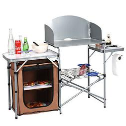 Folding Camping Table Portable Outdoor Cook Grilling Station