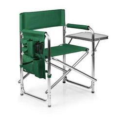 Camping Chair Folding Green Portable Armrest Caddy Storage W