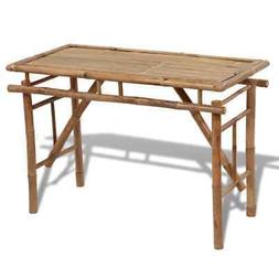 folding outdoor table bamboo 47 2 garden