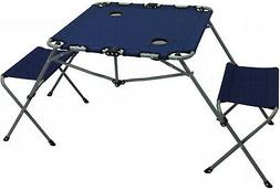 Folding Table And Chairs Set Camping Bench Style Travel Picn