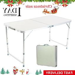 folding table indoor outdoor bbq portable plastic