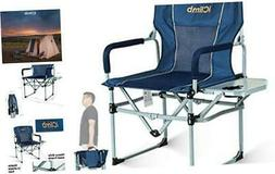 iClimb Heavy Duty Compact Camping Folding Mesh Chair with Si