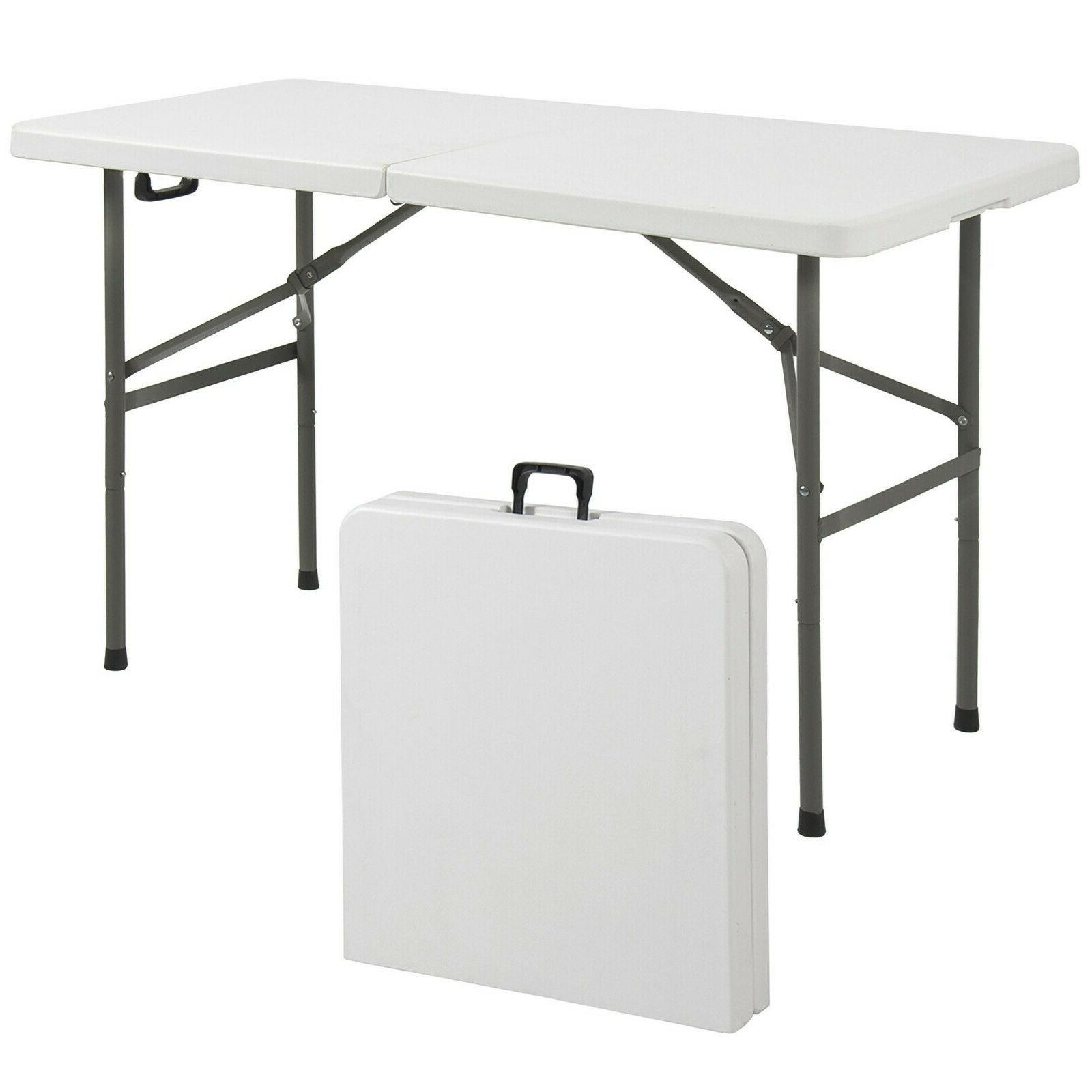 4ft plastic table folding picnic party outdoor