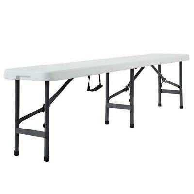 6'Portable Folding Bench In/Outdoor Dining Table Outdoor Camping
