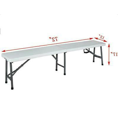 6 portable folding bench plastic in outdoor