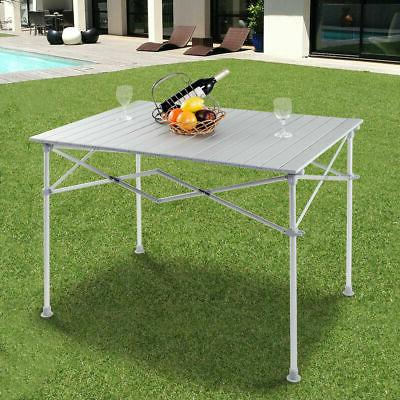 Aluminum Picnic Camping Table Lightweight Roll-Up In/Outdoor Storage Bag