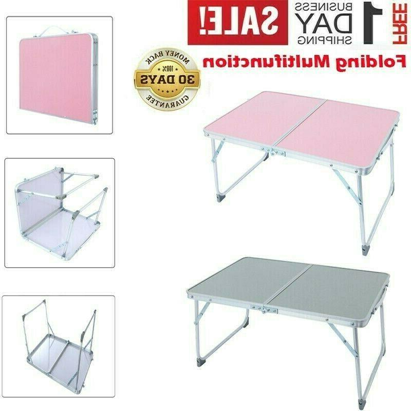 aluminum folding table portable indoor outdoor picnic