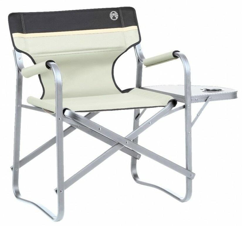 camping chair deck chair with table khaki