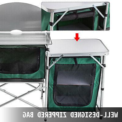 Camping Table Cabinet Storage Rack