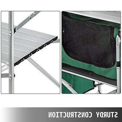 Camping Kitchen Table Cabinet Table Cooking Rack Zippered
