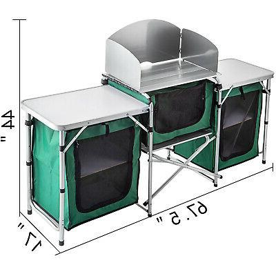 Camping Kitchen Picnic Table Cook Storage