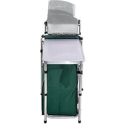 Camping Kitchen Cabinet Table Portable Storage Rack