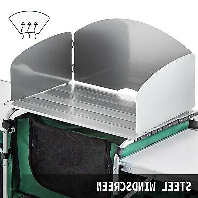 Table Folding Cook Storage Green