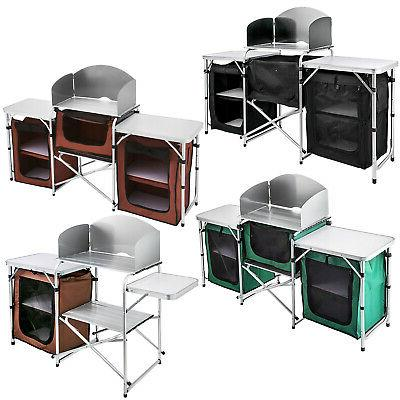 camping kitchen table picnic cabinet table cooking