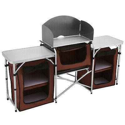 Camping Table Cooking Storage