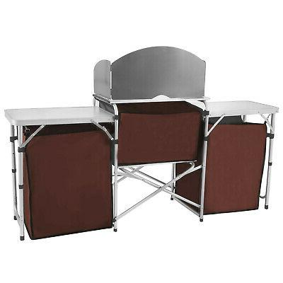 Camping Cabinet Table Portable