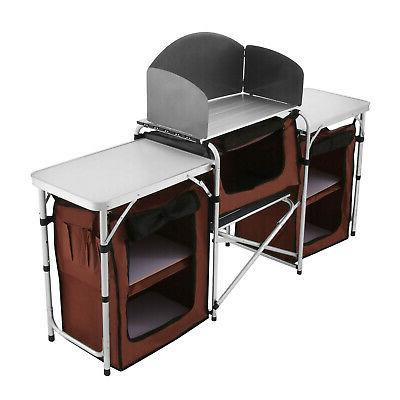 Camping Kitchen Table Cabinet Table Cooking