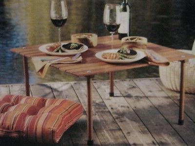camping picnic collapsible carriable wooden table