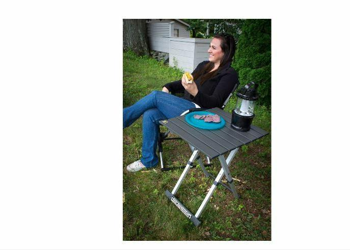 GCI Outdoor Table 20 Silver Frame Lightweight