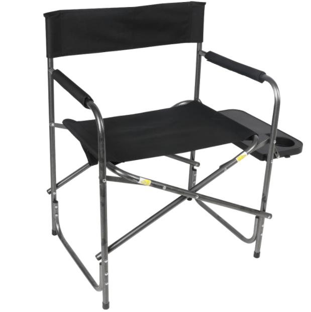 directors chair with side table black camping