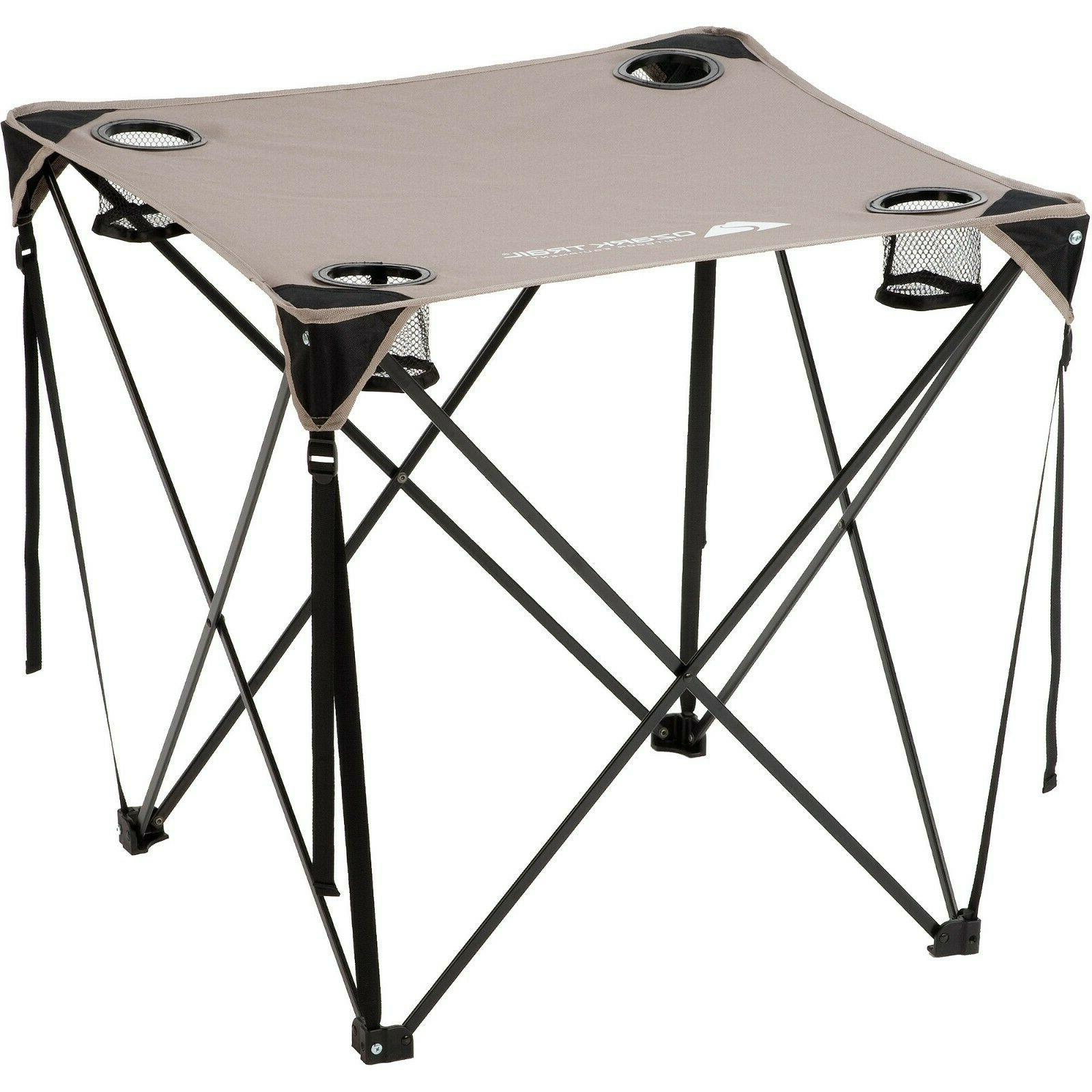 Ozark Trail Durable Camping Outdoor Quad Table Cup Holders