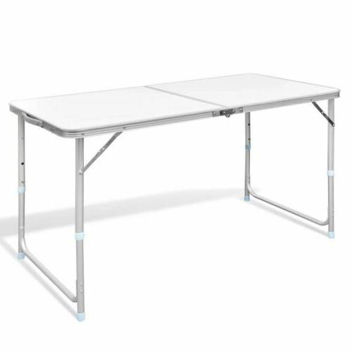 foldable camping table height adjustable aluminum 47