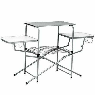 foldable camping table outdoor kitchen portable grilling