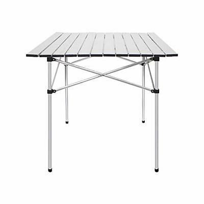 Folding Tables Camping Roll Up Aluminum Portable Square Tabl