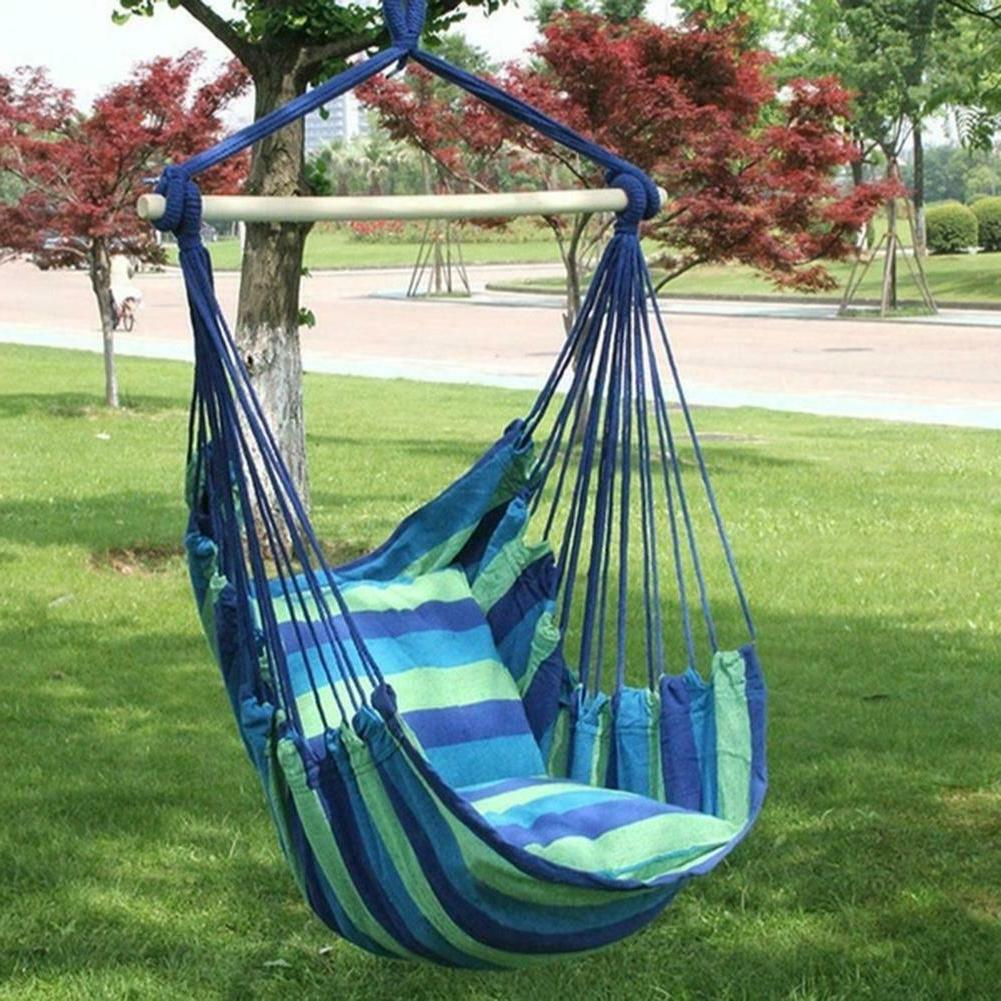 Garden Hammock Hanging Chair Swing Seat Outdoor Patio w/2