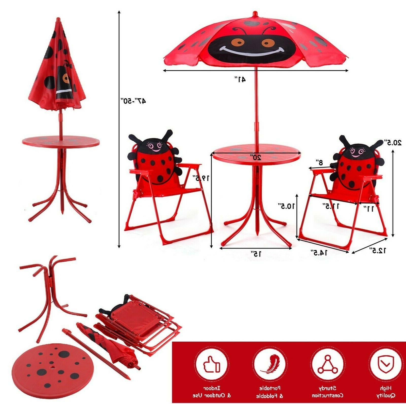 kids table and chairs with umbrella picnic