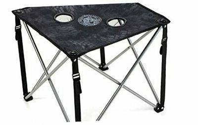 lucky bums quick camp table with carrying